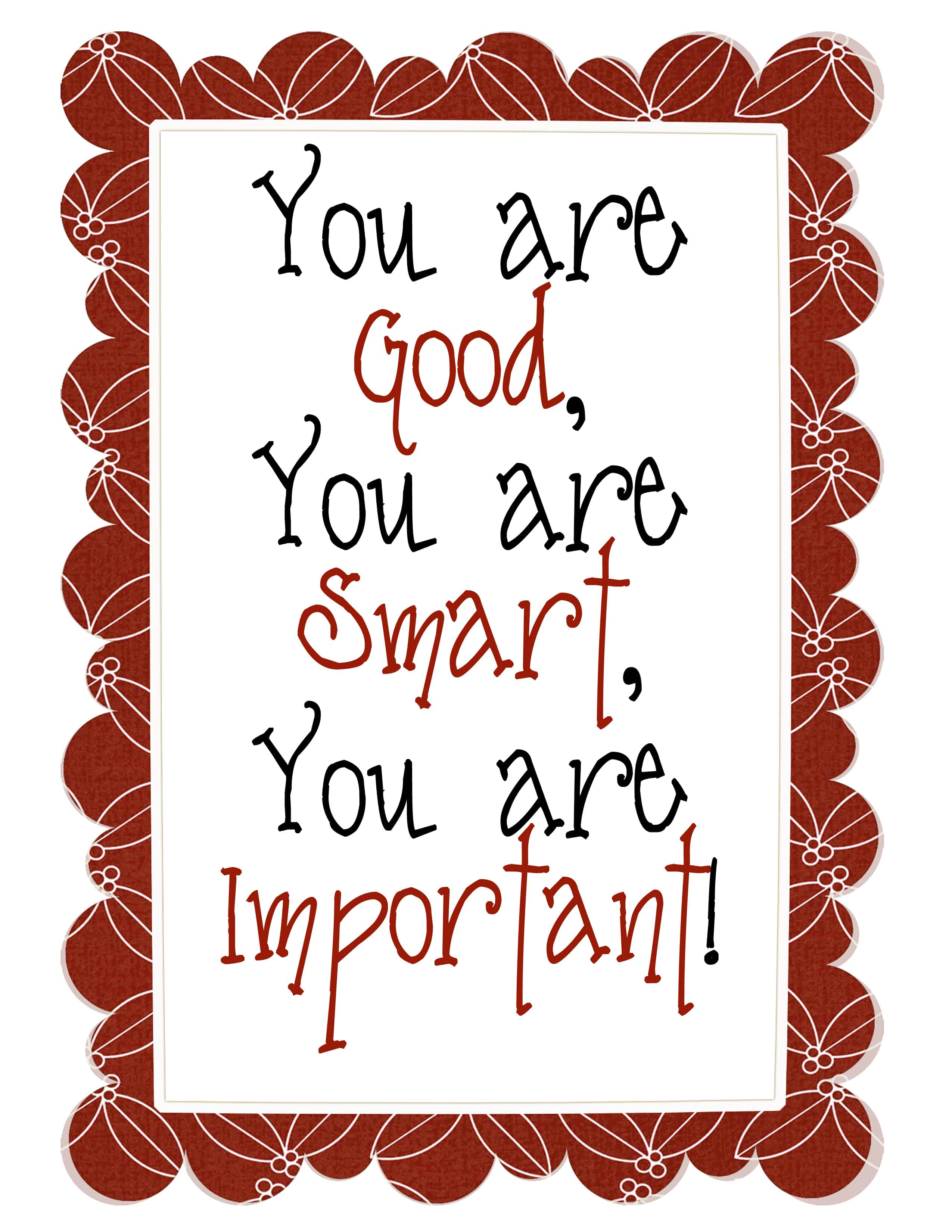 You are Good, You are Smart, You are Important! - Smith ...