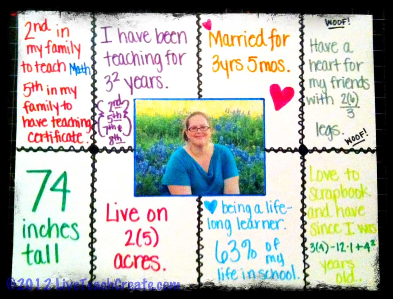 Math About Me Project- #made4math - Smith Curriculum and Consulting