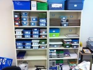 Manipulative and Supply Shelves