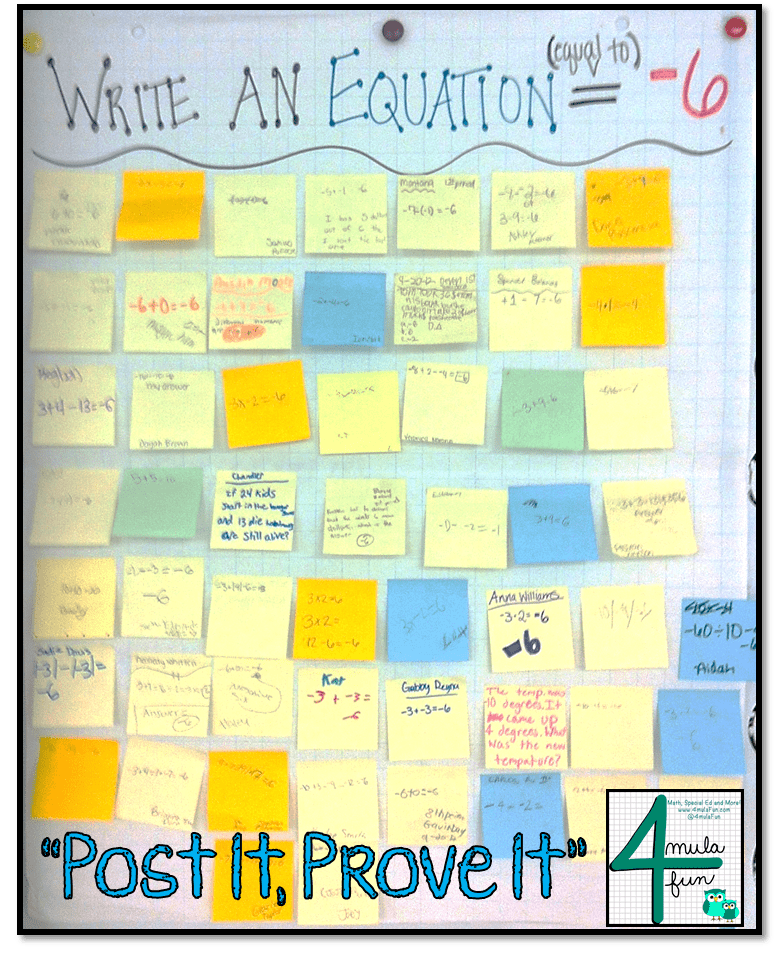 Post It, Prove It Exit Ticket Strategy