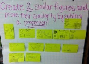 Post It Prove It- Similar Figures