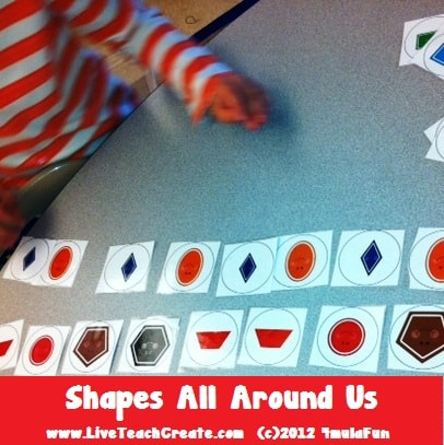 Friday Freebie- Shapes All Around Us