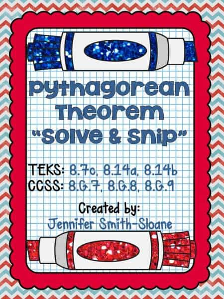 Pythagorean Theorem Solve and Snip