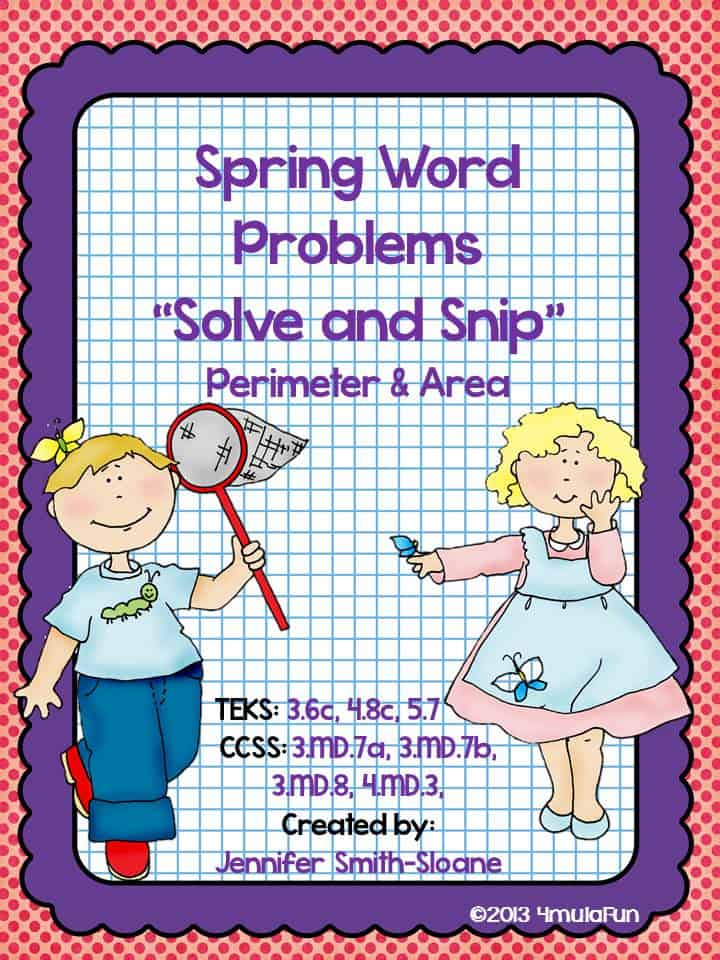FREE Spring Solve and Snip for 3-5th