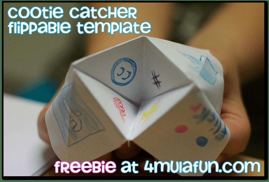 Cootie Catcher Template Freebie at 4mulaFun.com