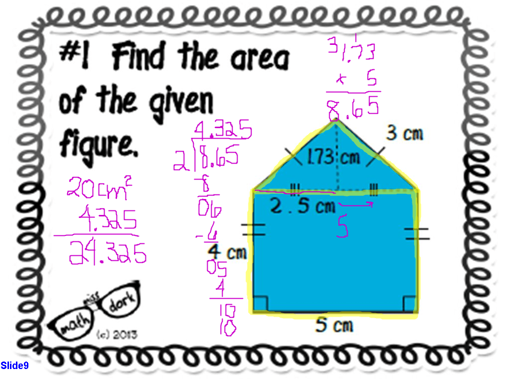 What is Area? Concept Review with Task Cards