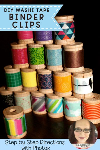 Washi Tape Binder Clips