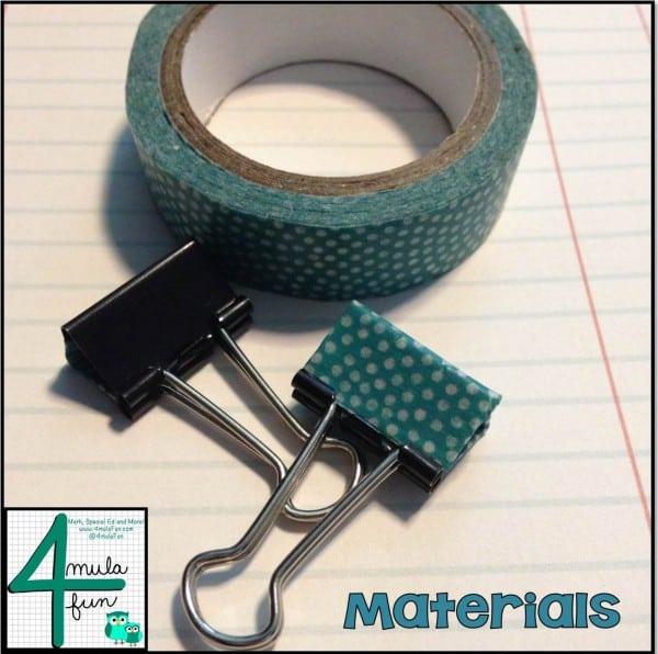 Materials to make decorative binder clips