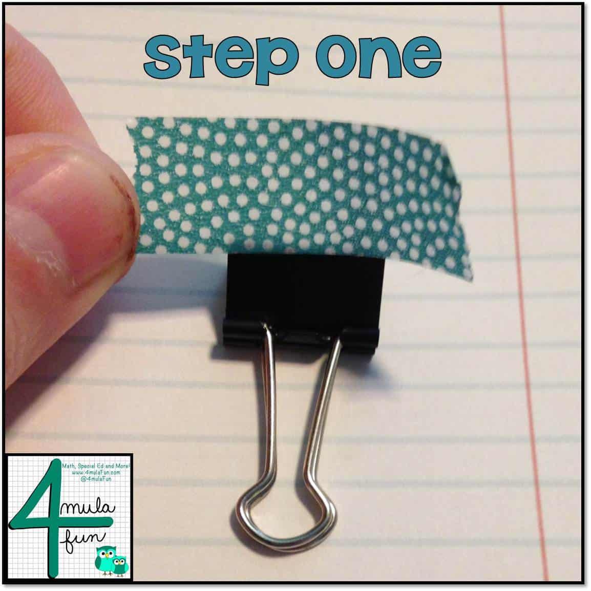 Step 1 for Making Decorative Binder Clips