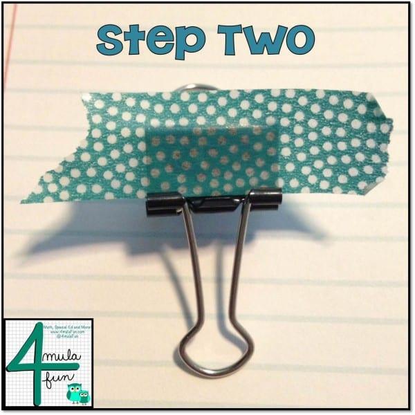 Step 2 for Making Decorative Binder Clips