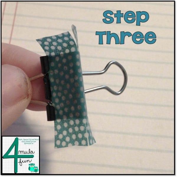 Step 3 for Making Decorative Binder Clips