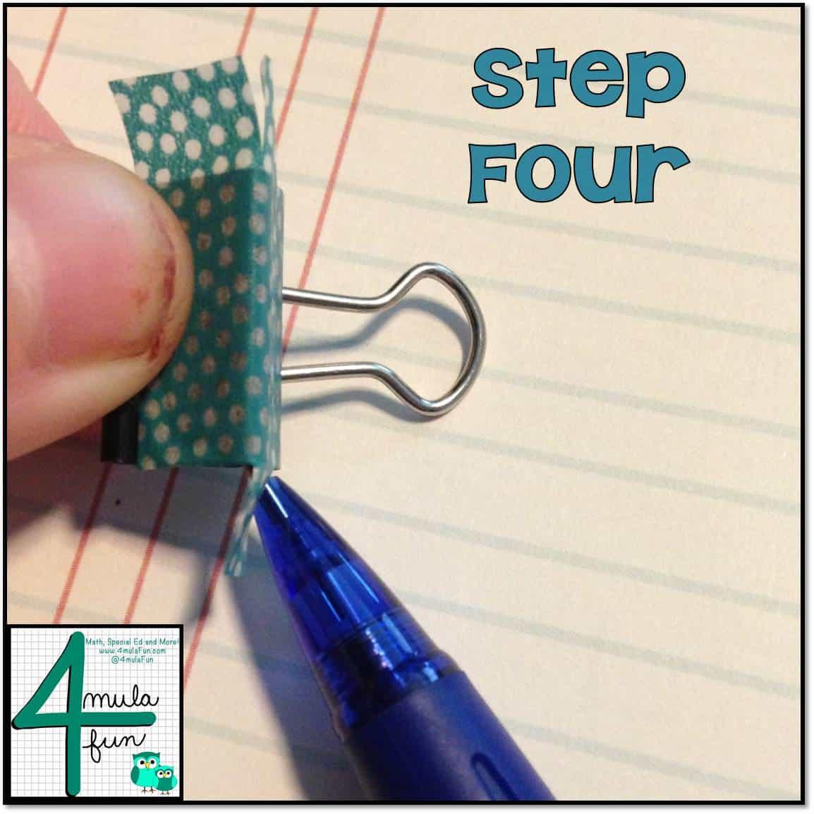Step 4 for Making Decorative Binder Clips