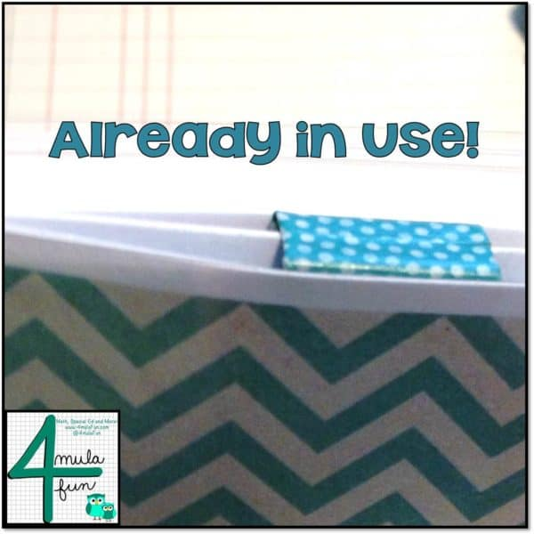 Decorative Binder Clip in Use