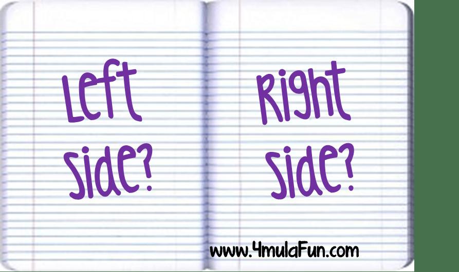 Left Side Versus Right Side for INBs