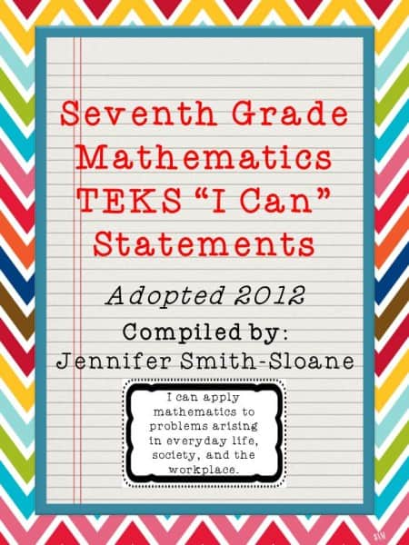 SeventhGradeMathTEKS_ICanStatements_Preview