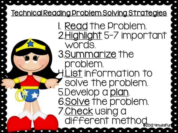 Super Hero Problem Solving