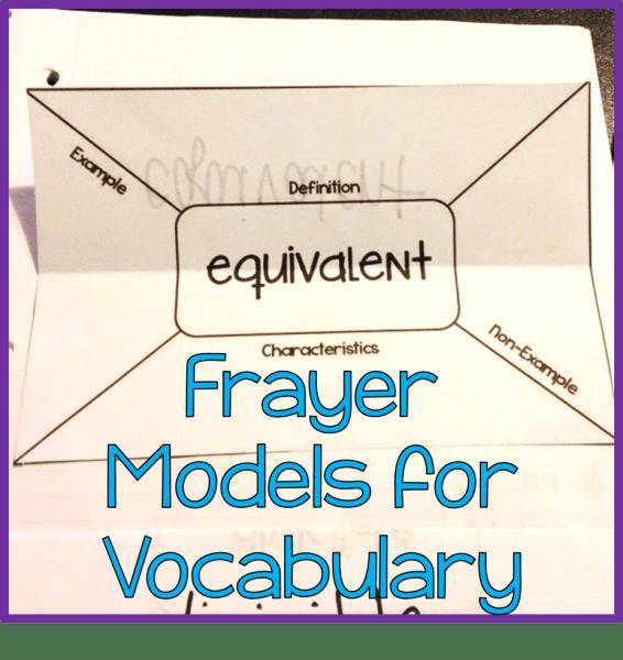 Frayer Models for Vocabulary