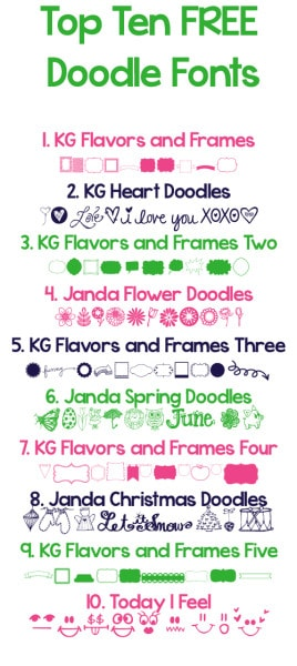 Top Ten Free Doodle Fonts