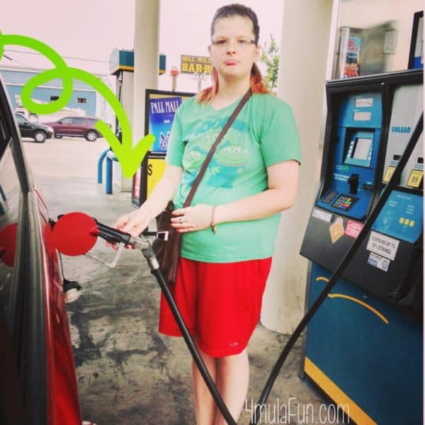On one of our trips this summer, I learned that Jonna The Great had never pumped gas before. I had to teach her!
