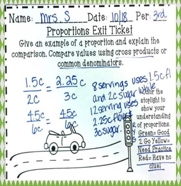 Editable Exit Ticket with Stoplight Comprehension