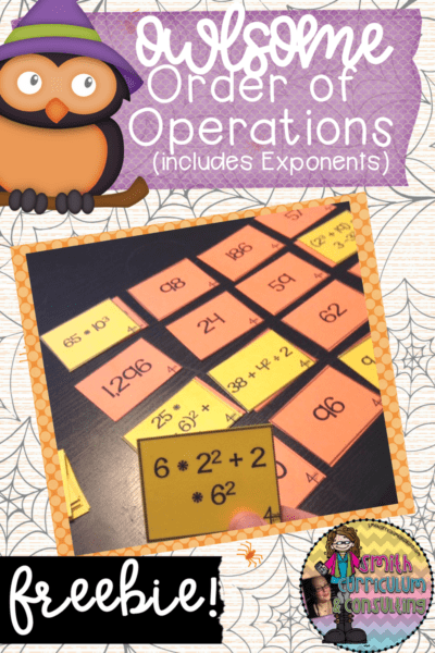 Practicing Order of Operations is a skill ALL students need at all times of the year. This FREEBIE will help you and your students make sure their skills are owlsome!