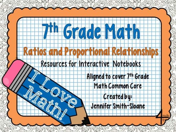 7th Grade Ratios and Proportional Reasoning for Interactive Notebooks
