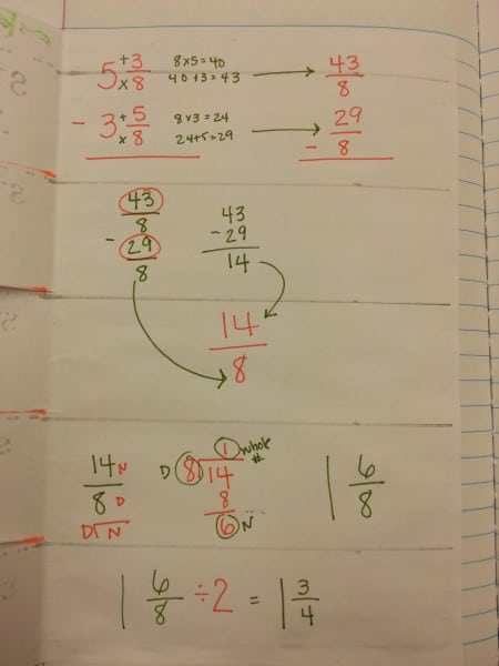 Regrouping Fractions Inside