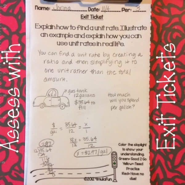 Assess with Exit Tickets