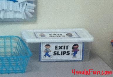 Exit Slips Bucket