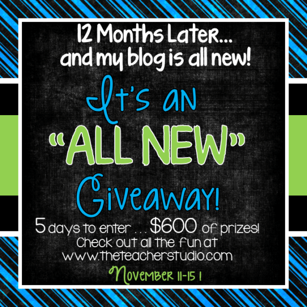 The Teacher Studio: It's An All New Giveaway