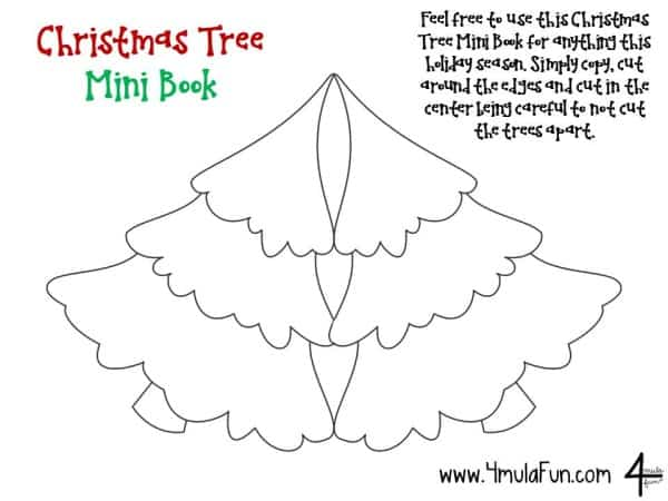 Christmas Tree Mini Book FREEBIE