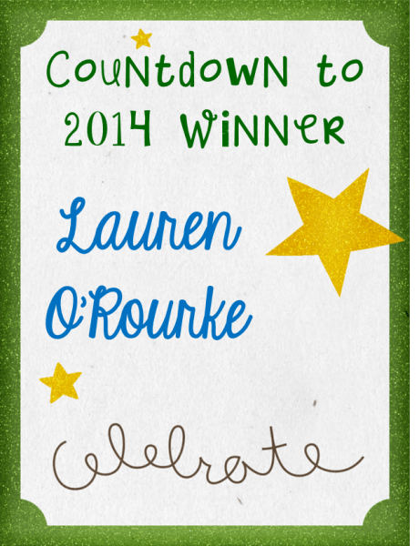 Countdown to 2014 Giveaway Winner