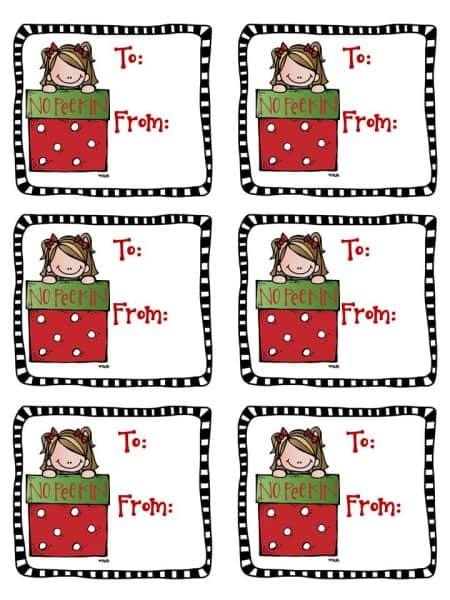 No Peeking Christmas Tag Freebie