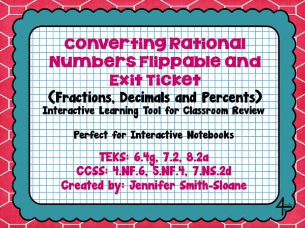 Converting Rational Numbers Flippable