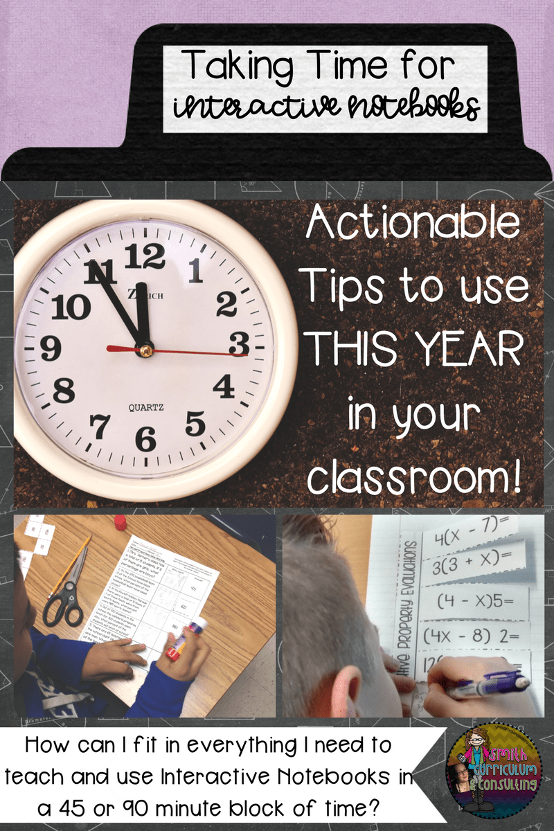 Are you interested in using Interactive Notebooks in your classroom but struggling with how you might fit it all in in a small 45 or 90 minute time block? After years of doing it in both time spans I am here to share with you some easy, actionable tips and strategies for effectively teaching with Interactive Notebooks without fail.