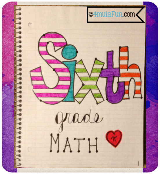 Interactive Notebook Cover Page