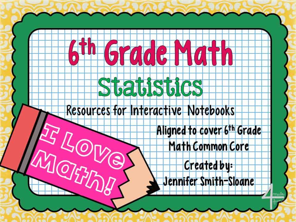 Statistics Interactive Notebook Ideas