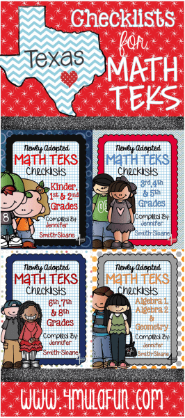 Checklists for Math TEKS