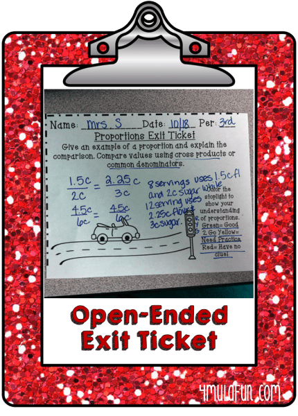 OpenEnded Exit Ticket