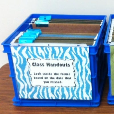 File Crate for Class Handouts