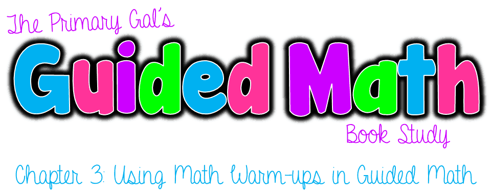 Book Study: Guided Math Chapter 3