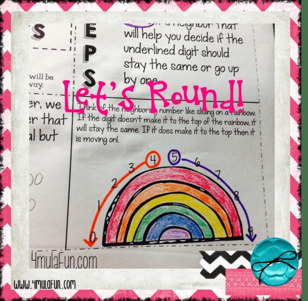 4th Grade Interactive Notebook Rounding Rainbow