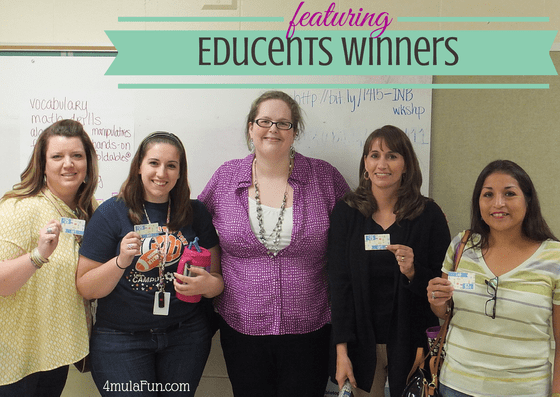 EduCents Gift Certificate Winners