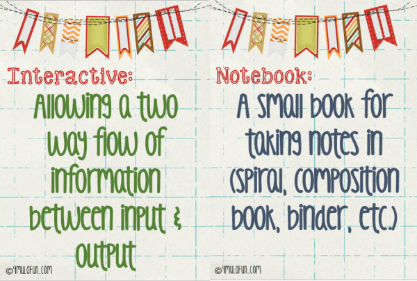 Interactive Notebook Definition