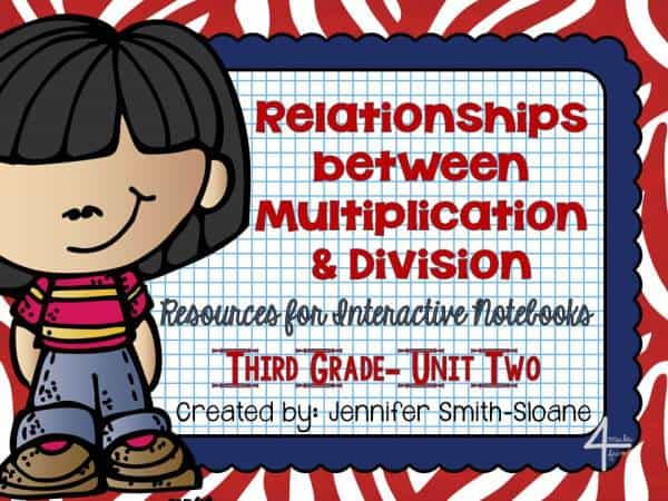3rd Grade Interactive Notebook- Relationships between Multiplication and Division