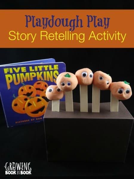 Five Little Pumpkins: Playdough Play Retelling Activity