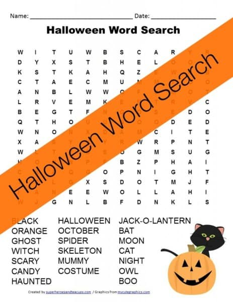 Free Printable – Halloween Word Search