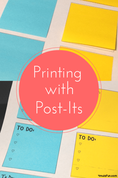 Printing With Post Its
