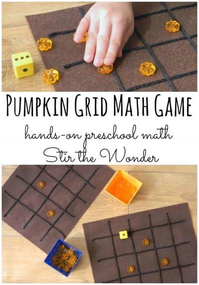 DIY Pumpkin Place Value Game