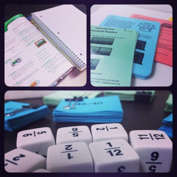 Collage of Math Centers